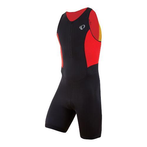 Mens Pearl Izumi SELECT Triathlon UniSuits - Black/Fiery Red XL