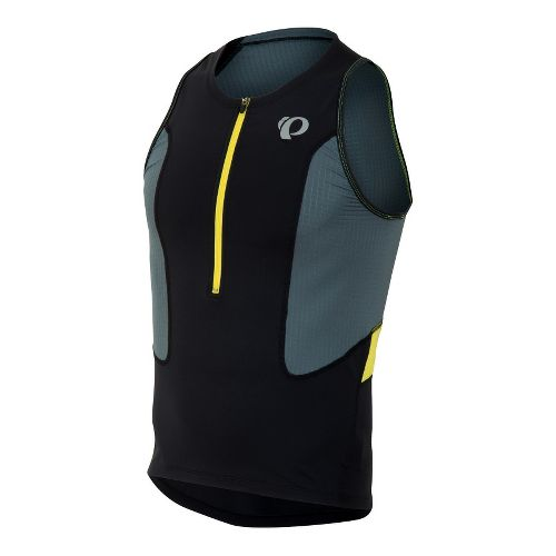 Mens Pearl Izumi SELECT Tri Singlets Technical Tops - Black/Stormy XL