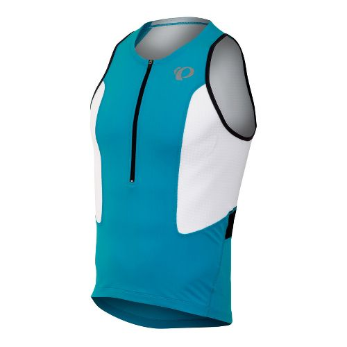 Mens Pearl Izumi SELECT Tri Singlets Technical Tops - Electric Blue/White S