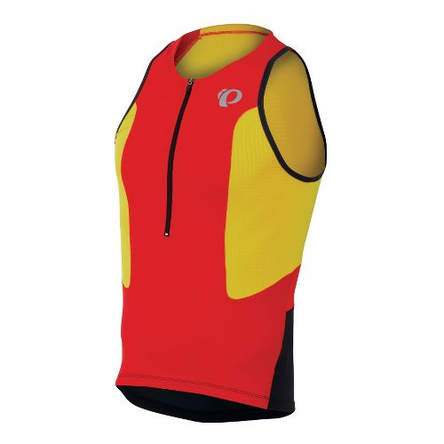 Mens Pearl Izumi SELECT Tri Singlets Technical Tops - Fiery Red/Blazing Orange S