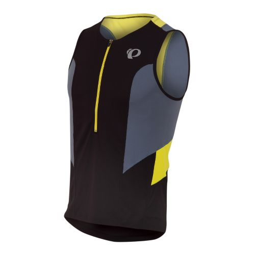 Mens Pearl Izumi SELECT Tri Relaxed Jersey Sleeveless Technical Tops - Black/Stormy XL