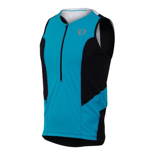 Mens Pearl Izumi SELECT Tri Relaxed Jersey Sleeveless Technical Tops - Electric Blue/Black M
