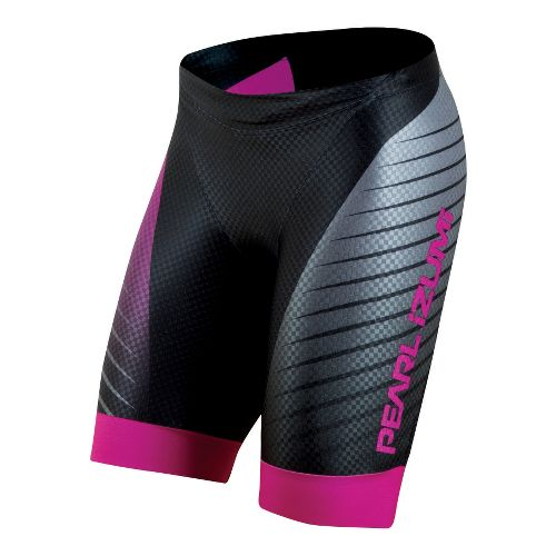 Womens Pearl Izumi PRO In-R-Cool Tri Fitted Shorts - Black XS