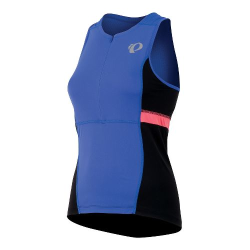 Womens Pearl Izumi SELECT Tri Relaxed Jersey Sleeveless Technical Tops - Dazzling Blue XXL