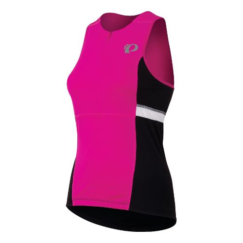 Womens Pearl Izumi SELECT Tri Relaxed Jersey Sleeveless Technical Tops - Hot Pink L