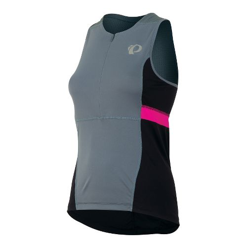 Womens Pearl Izumi SELECT Tri Relaxed Jersey Sleeveless Technical Tops - Stormy XL