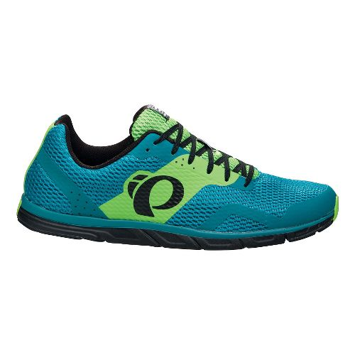 Mens Pearl Izumi EM Road N 0 Running Shoe - Harbor Blue/Green 10