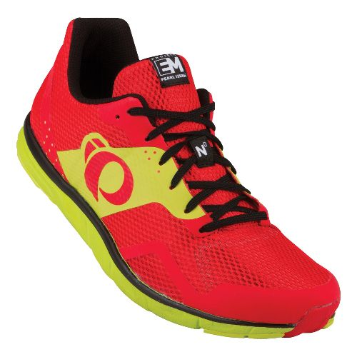 Mens Pearl Izumi EM Road N 0 Running Shoe - Black/Fiery Red 14