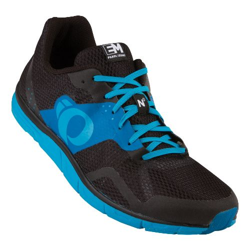 Mens Pearl Izumi EM Road N 0 Running Shoe - Black/Mykonos Blue 11.5