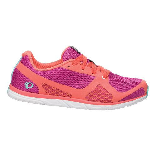 Womens Pearl Izumi EM Road N 0 Running Shoe - Rose Violet/Coral 10.5