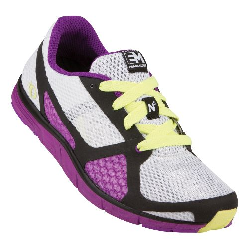 Womens Pearl Izumi EM Road N 0 Running Shoe - White/Black 10