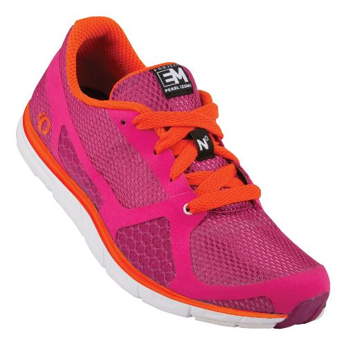 Womens Pearl Izumi EM Road N 0 Running Shoe - Rose Violet/Coral 6.5