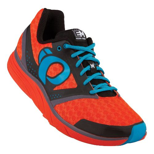 Mens Pearl Izumi EM Road M 2 Running Shoe - Black/Flame 7