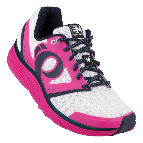 Womens Pearl Izumi EM Road M 2 Running Shoe - Raspberry Rose/White 10.5