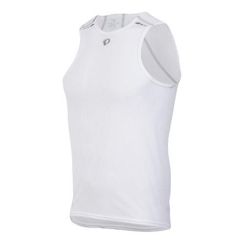 Mens Pearl Izumi Transfer Lite Baselayer Sleeveless Technical Tops - White XL