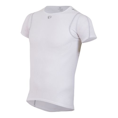 Mens Pearl Izumi Transfer Lite Baselayer Short Sleeve Technical Tops - White XL