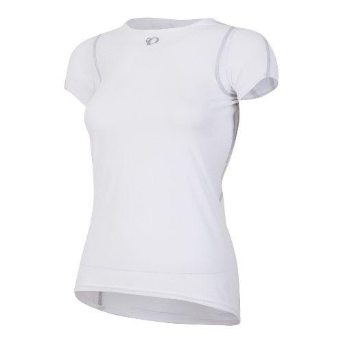 Womens Pearl Izumi Transfer Lite Baselayer Short Sleeve Technical Tops - White M
