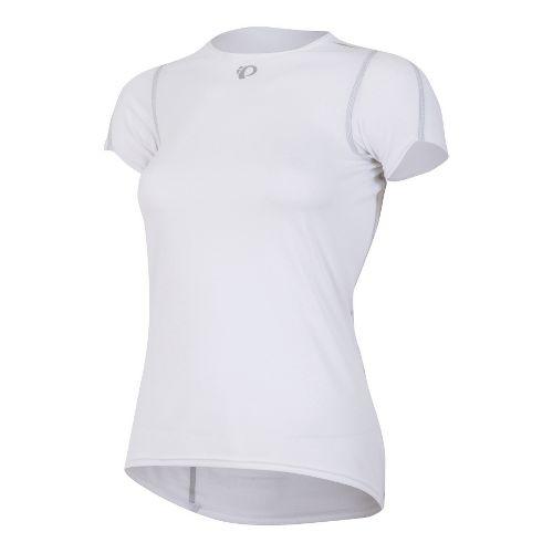 Womens Pearl Izumi Transfer Baselayer Short Sleeve Technical Tops - White L