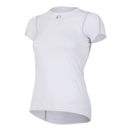 Womens Pearl Izumi Transfer Baselayer Short Sleeve Technical Tops - White M