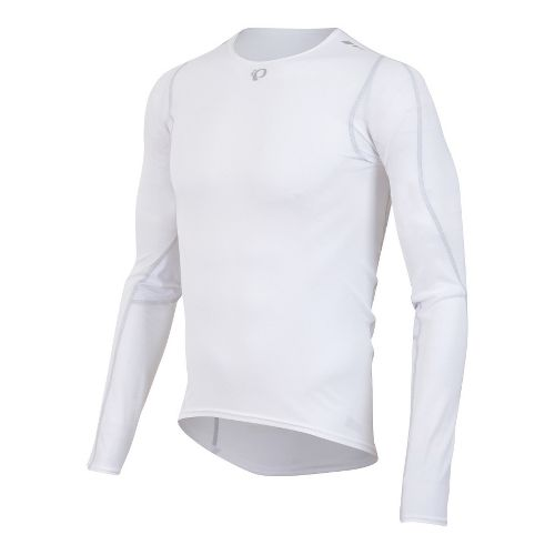 Mens Pearl Izumi Transfer Baselayer Long Sleeve No Zip Technical Tops - White S