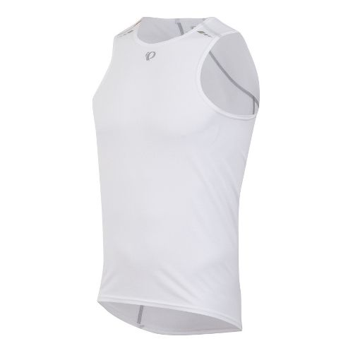 Mens Pearl Izumi Transfer Baselayer Sleeveless Technical Tops - White S