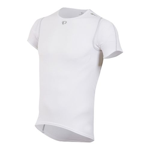 Mens Pearl Izumi Transfer Baselayer Short Sleeve Technical Tops - White S