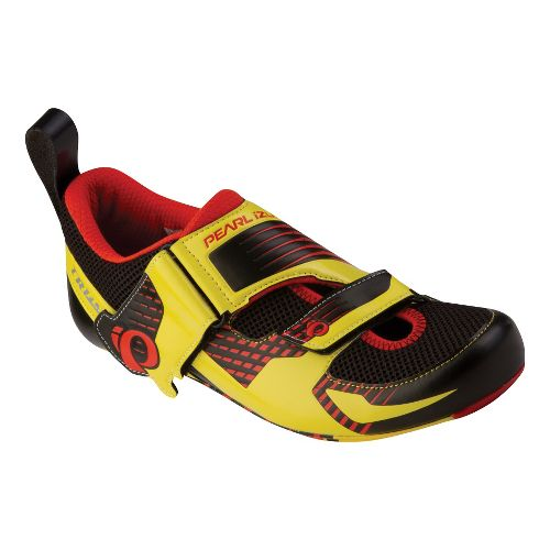 Pearl Izumi Tri Fly IV Carbon Cycling Shoe - Black/Fiery Red 43.5