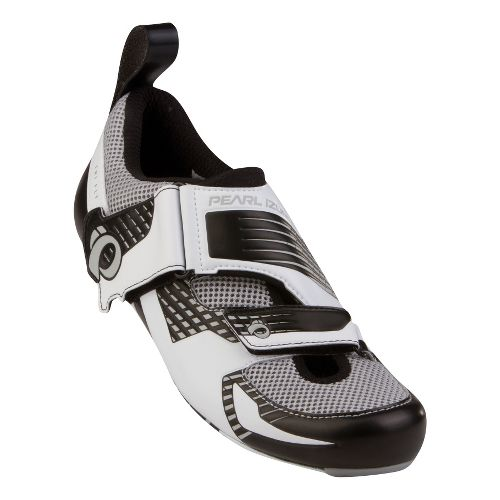 Pearl Izumi Tri Fly IV Carbon Cycling Shoe - White/Silver 45