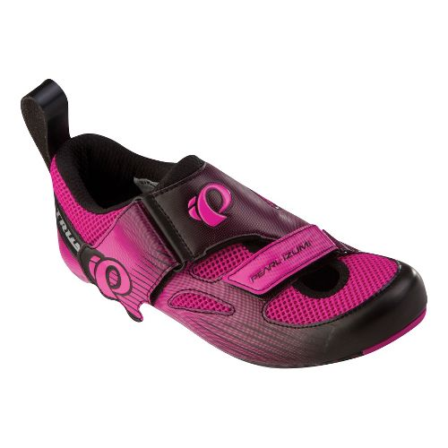 Womens Pearl Izumi Tri Fly IV Carbon Cross Training Shoe - Hot Pink/Black 40.5