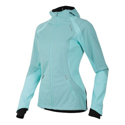 Womens Pearl Izumi Fly Softshell Run Hoody Outerwear Jackets - Aruba Blue XL