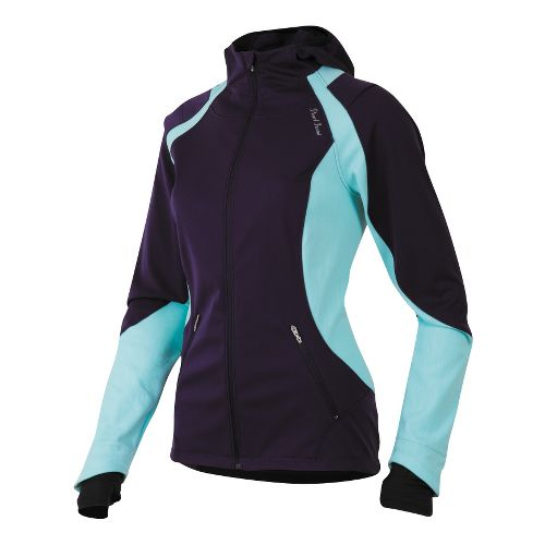 Womens Pearl Izumi Fly Softshell Run Hoody Outerwear Jackets - Blackberry L