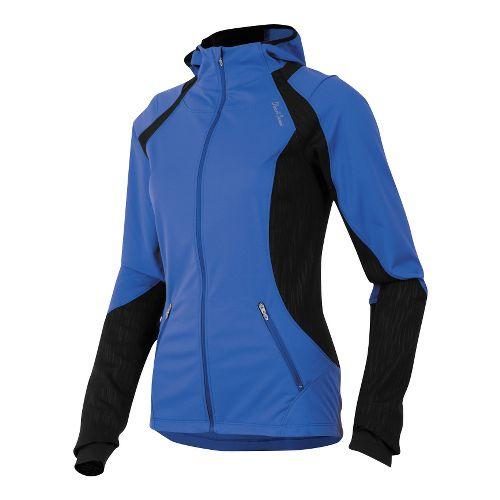 Womens Pearl Izumi Fly Softshell Run Hoody Outerwear Jackets - Dazzling Blue L