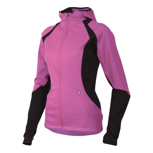 Womens Pearl Izumi Fly Softshell Run Hoody Outerwear Jackets - Raspberry Rose L