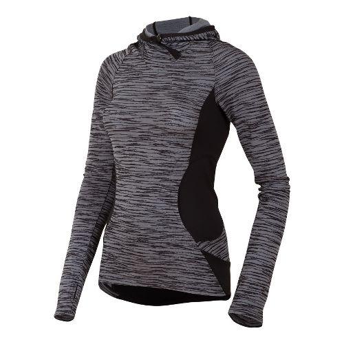 Womens Pearl Izumi Flash Hoody Running Jackets - Black XL