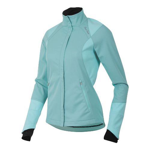 Womens Pearl Izumi Fly Softshell Run Outerwear Jackets - Aruba Blue XL