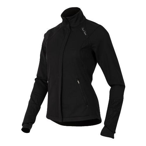 Womens Pearl Izumi Fly Softshell Run Outerwear Jackets - Black L