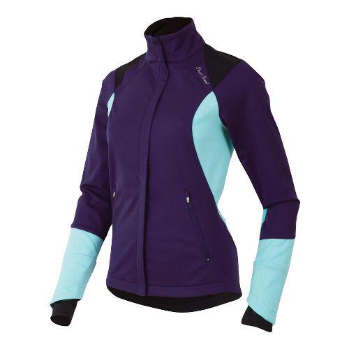 Womens Pearl Izumi Fly Softshell Run Outerwear Jackets - Blackberry XL