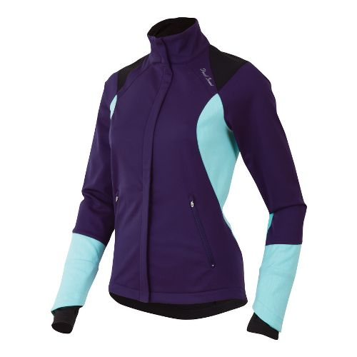 Womens Pearl Izumi Fly Softshell Run Outerwear Jackets - Blackberry XS