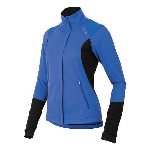 Womens Pearl Izumi Fly Softshell Run Outerwear Jackets - Dazzling Blue L