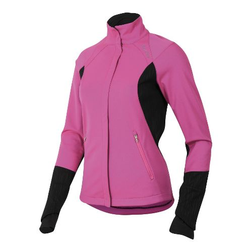 Womens Pearl Izumi Fly Softshell Run Outerwear Jackets - Raspberry Rose L