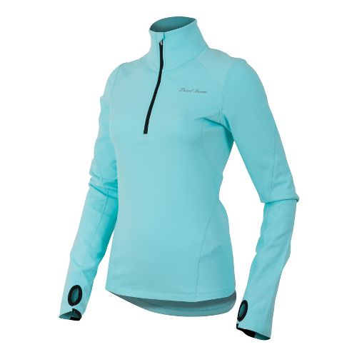 Womens Pearl Izumi Fly Thermal Run Long Sleeve 1/2 Zip Technical Tops - Aruba Blue ...