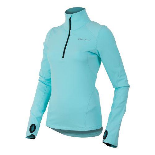 Womens Pearl Izumi Fly Thermal Run Long Sleeve 1/2 Zip Technical Tops - Aruba Blue ...