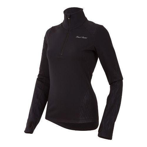 Womens Pearl Izumi Fly Thermal Run Long Sleeve 1/2 Zip Technical Tops - Black XS ...