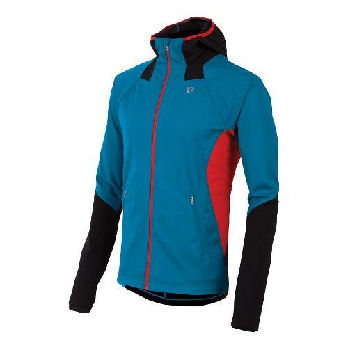 Mens Pearl Izumi Fly Softshell Run Hoody Outerwear Jackets - Mykonos Blue S