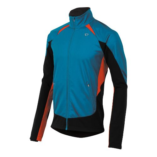 Mens Pearl Izumi Fly Softshell Run Outerwear Jackets - Mykonos Blue M