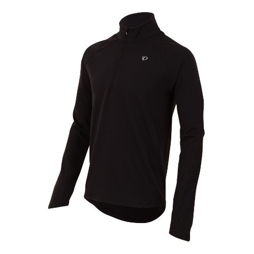 Mens Pearl Izumi Fly Thermal Run Long Sleeve 1/2 Zip Technical Tops - Black S ...