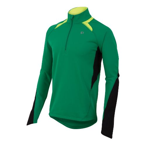 Mens Pearl Izumi Fly Thermal Run Long Sleeve 1/2 Zip Technical Tops - Jelly Bean ...