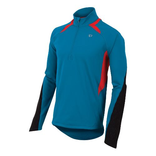 Mens Pearl Izumi Fly Thermal Run Long Sleeve 1/2 Zip Technical Tops - Mykonos Blue ...