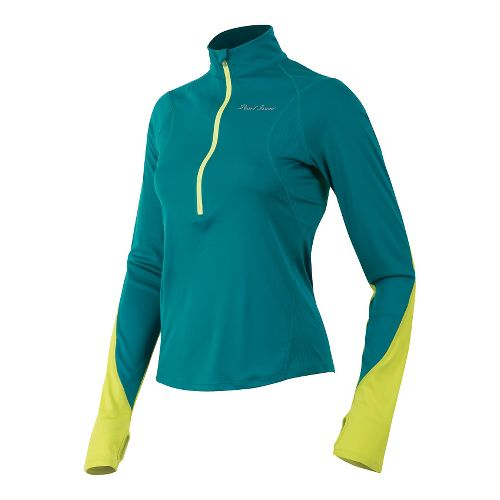 Womens Pearl Izumi Fly Long Sleeve No Zip Technical Tops - Deep Lake XL