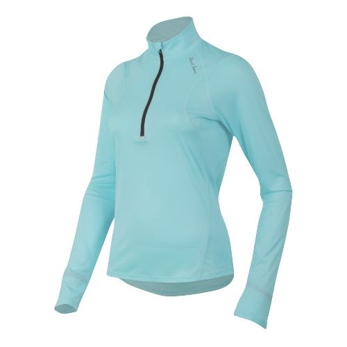 Womens Pearl Izumi Fly Long Sleeve No Zip Technical Tops - Aruba Blue L